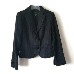 NWT Zara jacket tweed Chanel style black sz 8